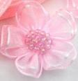 Fleur : organza : Rose : 30 mm