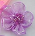 Fleur : organza : Mauve : 30 mm