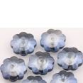 Bead : faceted : Blue flower : 10mm