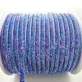 Ruban : velours métallisé : Dégradé bleu violet : 10mm