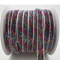 Ribbon : metallic velvet : Glittering black : 10 mm