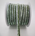 Ribbon : metallic velvet : Green & silver : 10 mm