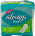 Always : serviette hygiénique : Ultra normal : paquet de 16
