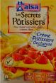 Alsa Les secrets pâtissiers : crème pâtissière : Onctueuse : 3 crèmes
