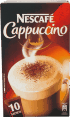Nestlé Nescafé : Cappuccino : boisson instantanée : 10 sachets
