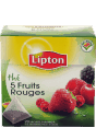 Lipton : the 5 fruits rouges : flavoured tea : 20 bags