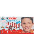 Kinder : milk chocolate : 16 sticks : 200g