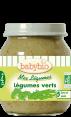 Babybio : légumes verts bio : Dès 4 mois : 130g