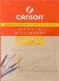 Canson : bloc papier millimétré : Format A4 : paquet 50