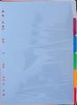Intercalaires : plastique : Format A4 : fois 6