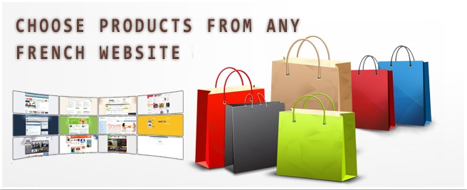 Choose products from any French websites